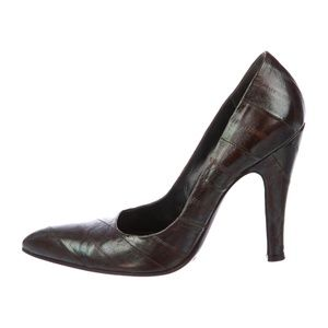 DOLCE & GABBANA - Embossed Leather Pumps